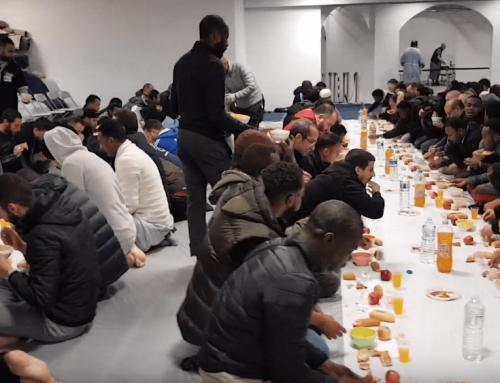 Iftar à l'institut Ibn Badis de Nanterre pendant le Ramadan 2019