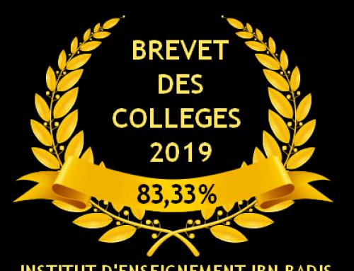 DNB 2019 : 83,33 % de réussite