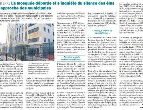 """""""La mosquée déborde et s'inquiète du silence des élus à l'approche des municipales"""""""