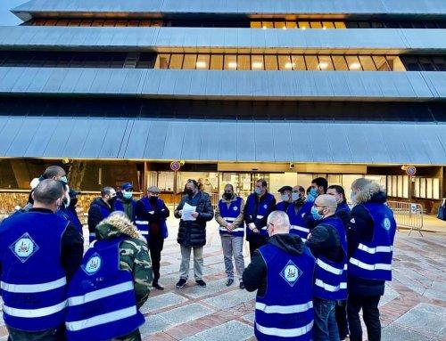 Une vingtaine de responsables se sont rendus à la mairie