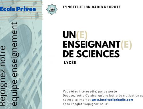ENSEIGNANT(E) DES SCIENCES