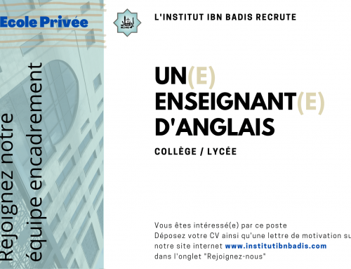 ENSEIGNANT(E) D'ANGLAIS (collège – lycée)