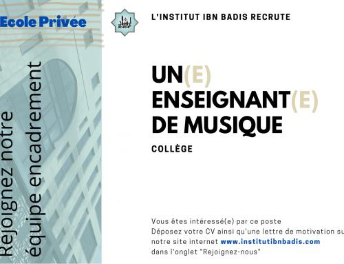 PROFESSEUR DE MUSIQUE (collège)